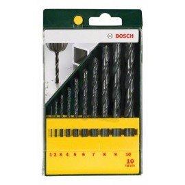 Bosch 10 részes HSS-R fémfúrókészlet