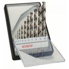 Bosch 10 részes Robust Line HSS-G fémfúró készlet, 135° 1; 2; 3; 4; 5; 6; 7; 8; 9; 10 mm, 135°
