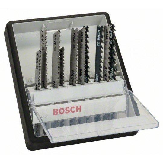 Bosch 10 részes Robust Line szúrófűrészlap készlet, Wood Expert T-szár T 101 AO; T 101 B; T 101 BR; T 101 AOF; T 101 BF; T 101 BRF; T 244 D; T 144 D; T 144 DF; T 144 DP