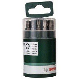 Bosch 10 részes Standard csavarozóbit-készlet belső Torx csavarokhoz (T) Univerzális tartó, mágneses; T10; T15; T20; T25 (2x); T27; T30; T40 (2x); 25 mm