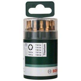 Bosch 10 részes Titanium csavarozóbit-készlet belső Torx csavarokhoz (T) UH 54; T10; T15; T20; T25 (2x); T27; T30; T40 (2x); 25 mm