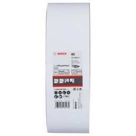 Bosch 10 részes X440 csiszolószalag készlet 75 x 533 mm, 80
