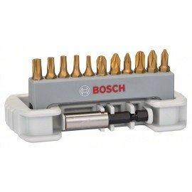 Bosch 11 részes csavarozóbit-készlet bittartóval PH1; PH2; PH3; PZ1; PZ2; PZ3; T10; T15; T20; T25; T30; 25 mm
