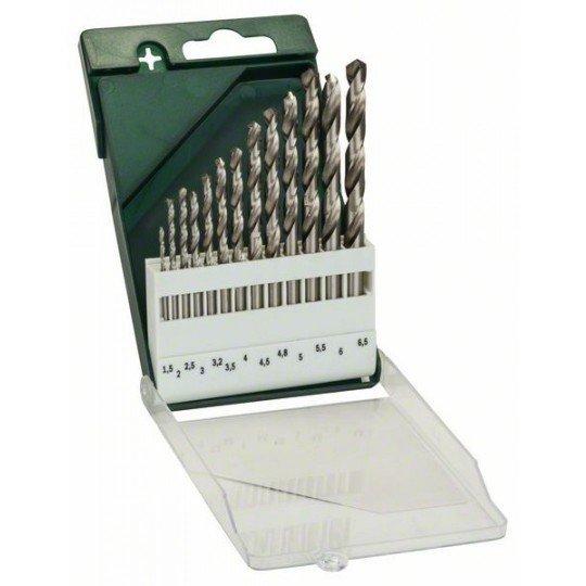 Bosch 13 részes fémfúrókészlet, HSS-G, DIN 338 1,5; 2,0; 2,5; 3,0; 3,2; 3,5; 4,0; 4,5; 4,8; 5,0; 5,5; 6,0; 6,5 mm