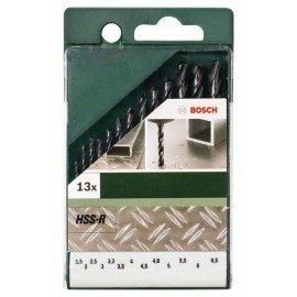 Bosch 13 részes fémfúrókészlet, HSS-R, DIN 338 1,5; 2,0; 2,5; 3,0; 3,2; 3,5; 4,0; 4,5; 4,8; 5,0; 5,5; 6,0; 6,5 mm