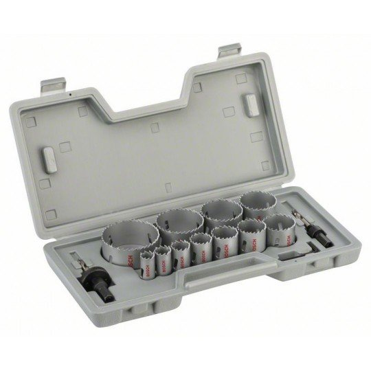 Bosch 14 részes körkivágó készlet, HSS bimetál 19; 22; 25; 29; 35; 38; 44; 51; 57; 64; 76 mm