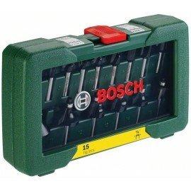 """Bosch 15 részes TC marófej készlet (1/4""""-os szár)"""