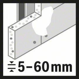 Bosch 15 részes univerzális körkivágó készlet, Multi Construction 20; 22; 25; 32; 35; 40; 44; 51; 60; 68; 76 mm