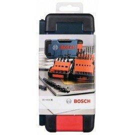 Bosch 18 részes Toughbox fémfúrókészlet HSS-R, 118° 1; 1,5; 2; 2; 2,5; 3; 3; 3,5; 4; 4; 4,5; 5; 5,5; 6; 7; 8; 9; 10 mm