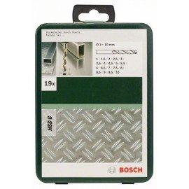 Bosch 19 részes fémfúrókészlet, HSS-G, DIN 338 1,0; 1,5; 2,0; 2,5; 3,0; 3,5; 4,0; 4,5; 5,0; 5,5; 6,0; 6,5; 7,0; 7,5; 8,0; 8,5; 9,0; 9,5; 10,0 mm