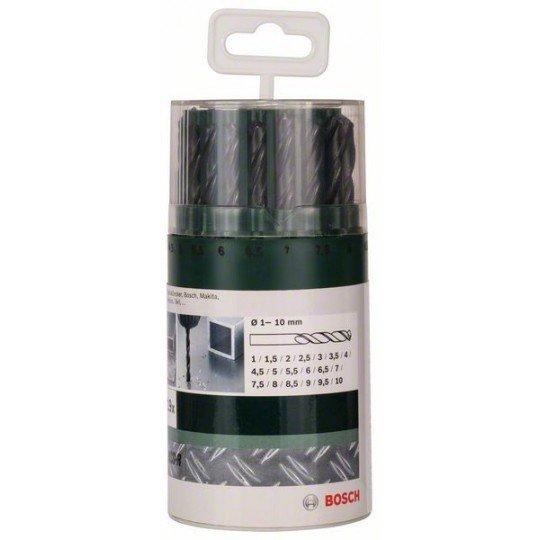 Bosch 19 részes fémfúrókészlet, HSS-R, DIN 338 1,0; 1,5; 2,0; 2,5; 3,0; 3,5; 4,0; 4,5; 5,0; 5,5; 6,0; 6,5; 7,0; 7,5; 8,0; 8,5; 9,0; 9,5; 10,0 mm