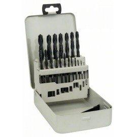 Bosch 19 részes, fémkazettás fémfúrókészlet, HSS-R, DIN 338 1-10 mm