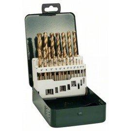 Bosch 19 részes HSS-TiN fémfúrókészlet, DIN 338 1,0; 1,5; 2,0; 2,5; 3,0; 3,5; 4,0; 4,5; 5,0; 5,5; 6,0; 6,5; 7,0; 7,5; 8,0; 8,5; 9,0; 9,5; 10,0 mm