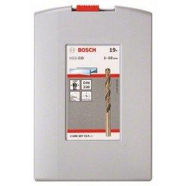 Bosch 19 részes ProBox HSS-Co (kobalttal ötvözött) fémfúrókészlet, DIN 338 1-10 mm