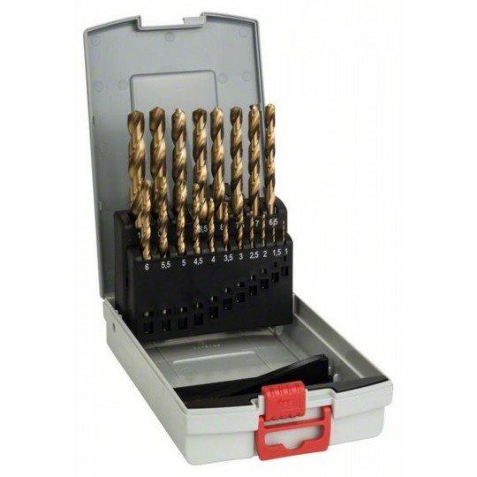 Bosch 19 részes ProBox HSS-TiN (titán bevonatú) fémfúrókészlet 1-10 mm