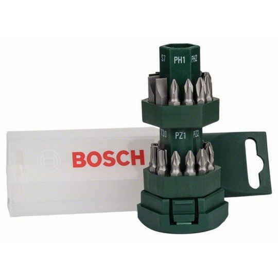 """Bosch 25 részes """"Big-Bit"""" csavarozófej-készlet"""