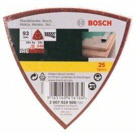 Bosch 25 részes csiszolólapkészlet deltacsiszolóhoz, 60-as, 120-as, 240-es szemcseméret