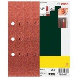 Bosch 25 részes csiszolólapkészlet rezgőcsiszolóhoz, 240-es szemcseméret