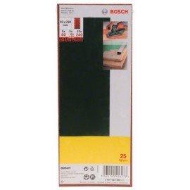 Bosch 25 részes csiszolólapkészlet rezgőcsiszolóhoz, 60-as, 80-as, 120-as, 240-es szemcseméret