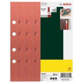 Bosch 25 részes csiszolólapkészlet rezgőcsiszolóhoz, 8 lyukú, 240-es szemcseméret