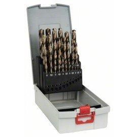 Bosch 25 részes ProBox HSS-Co (kobalttal ötvözött) fémfúrókészlet, DIN 338 1-13 mm