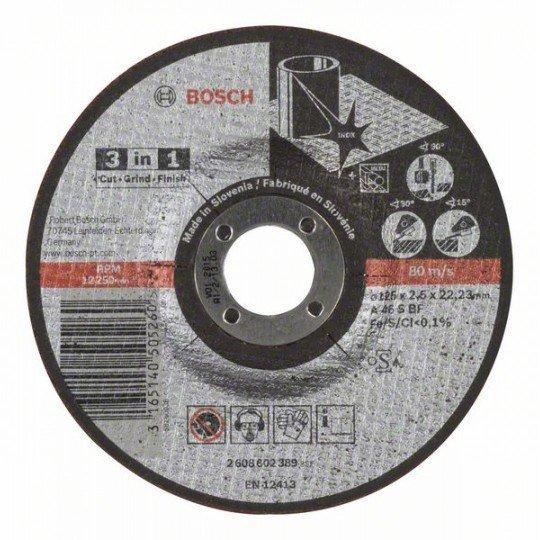 Bosch 3 az 1-ben darabolótárcsa A 46 S BF, 125 mm, 2,5 mm