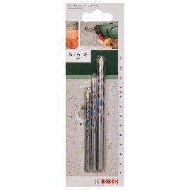 Bosch 3 részes betonfúró készlet 5,0 x 85; 6,0 x 100; 8,0 x 120