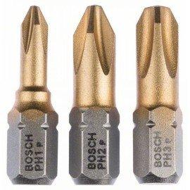 Bosch 3 részes csavarbit készlet Max Grip (PH) PH1; PH2; PH3; 25 mm
