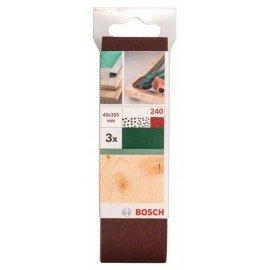 Bosch 3 részes csiszolószalag-készlet Bosch variocsiszolókhoz, piros minőség G= 240