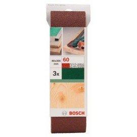 Bosch 3 részes csiszolószalag-készlet Bosch variocsiszolókhoz, piros minőség G= 60