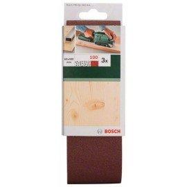 Bosch 3 részes csiszolószalag-készlet szalagcsiszolókhoz, piros minőség G= 100