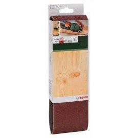 Bosch 3 részes csiszolószalag-készlet szalagcsiszolókhoz, piros minőség G= 40