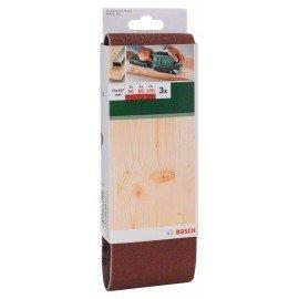 Bosch 3 részes csiszolószalag-készlet szalagcsiszolókhoz, piros minőség G= 60, 80, 100