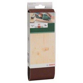 Bosch 3 részes csiszolószalag-készlet szalagcsiszolókhoz, piros minőség G= 80