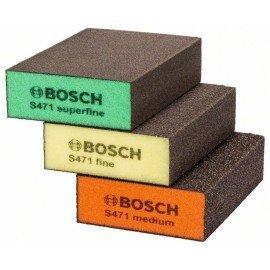 Bosch 3 részes csiszolószivacs készlet 69 x 97 x 26 mm, M, F, SF