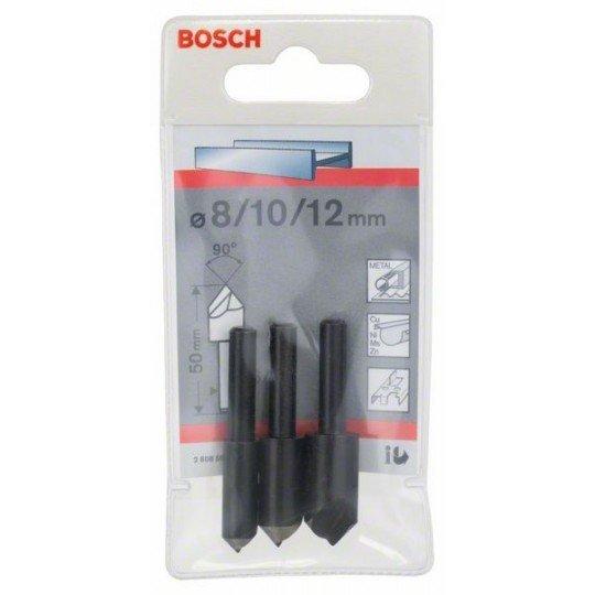 Bosch 3 részes kúpos süllyesztőkészlet 50 mm / 6-8 mm / 8; 10; 12 mm