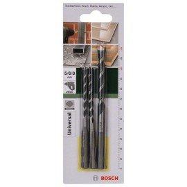 Bosch 3 részes SDS-Quick többcélú fúrókészlet 5,0x100; 6,0x100; 8,0x120