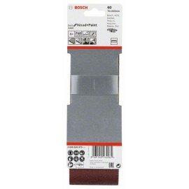 Bosch 3 részes X440 csiszolószalag-készlet 75 x 533 mm, 60