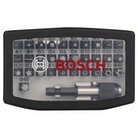 Bosch 32 részes csavarbit-készlet PH1; PH2; PH2; PH3; PZ1; PZ2; PZ2; PZ3; HEX 3; HEX 4; HEX 5; HEX 6; T10; T15; T20; T20; T25; T27; T30; T40