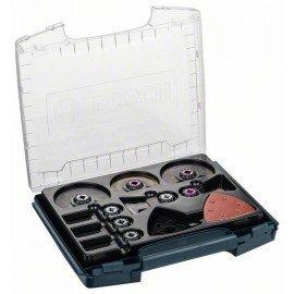 Bosch 34 részes i-BOXX Pro készlet belsőépítészeti munkákhoz ACZ 100 BB; ACZ 85 EIB; ACZ 100 SWB; AII 65 BPB (2x); AIZ 32 APB (2x); AIZ 32 BSPB (2x); AIZ 32 EPC (2x); ATZ 52 SFC (2x); AVZ 93 G; Wood and Paint csiszolólap (20x)