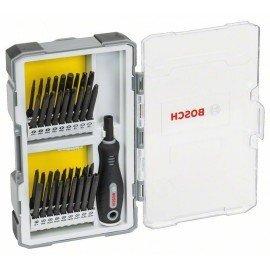Bosch 37 részes csavarhúzó készlet fogantyúval PH1-2-3; PZ1-2-3; SL5-6; TH8-11-15-20-25-27-30-40; TQ6-8-10; HEX2-2,5-3-4-5-6; TW 1-2-3-4; SP 4-6-8-10; R1-2-3