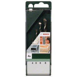Bosch 4 részes többcélú fúrókészlet 4,0 mm x 75 mm; 5,0 mm x 85 mm; 6,0 mm x 100 mm; 8,0 mm x 120 mm