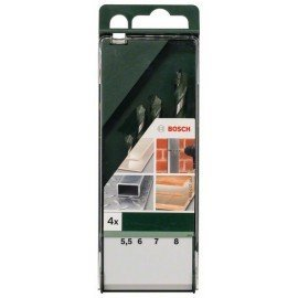Bosch 4 részes többcélú fúrókészlet 5,5 mm x 85 mm; 6,0 mm x 100 mm; 7,0 mm x 100 mm; 8,0 mm x 120 mm