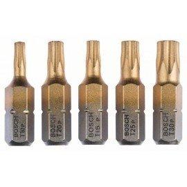 Bosch 5 részes csavarbit készlet Max Grip (Torx®) T 10; T 15; T 20; T 25; T 30; 25 mm