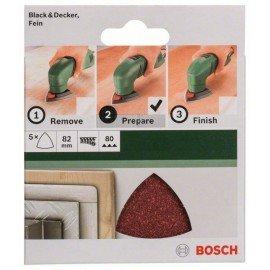 Bosch 5 részes csiszolólapkészlet deltacsiszolókhoz G= 80