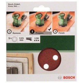 Bosch 5 részes csiszolólapkészlet excentercsiszolókhoz G= 120