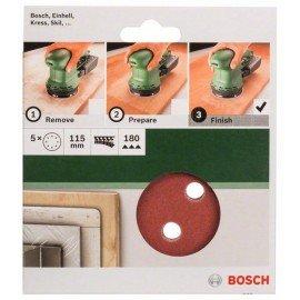 Bosch 5 részes csiszolólapkészlet excentercsiszolókhoz G= 180