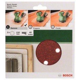 Bosch 5 részes csiszolólapkészlet excentercsiszolókhoz G= 40