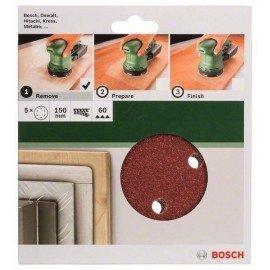 Bosch 5 részes csiszolólapkészlet excentercsiszolókhoz G= 60