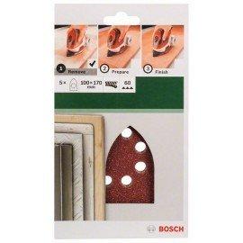 Bosch 5 részes csiszolólapkészlet multicsiszolókhoz G= 60